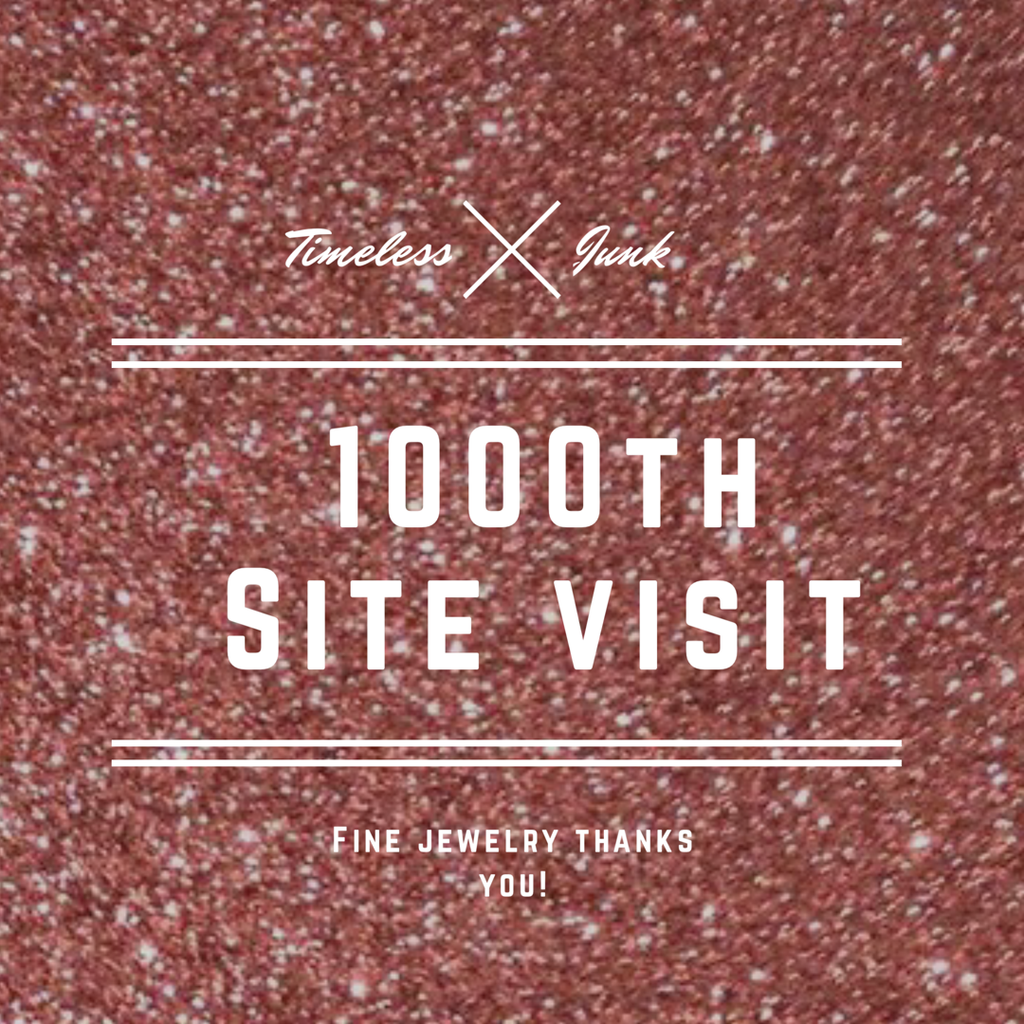 WHOAH! Our 1000th SITE VISIT! Thanks to You!