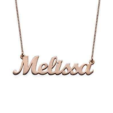 """SCRIPT ME"" Custom Rose Gold Necklace"