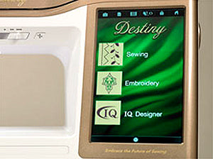 Baby Lock Destiny Touch Screen