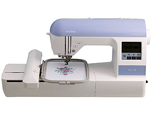 Brother PE770 Embroidering