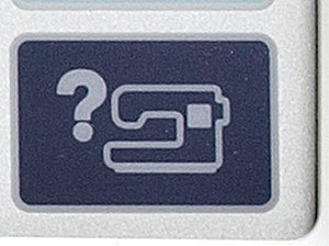 Brother PE770 Help Button