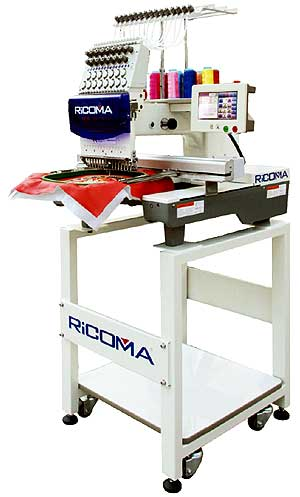 Ricoma RCM-1501TC-7S Embroidery Machine With Stand