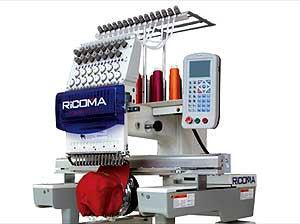Ricoma RCM-0601PT 6 Needle Single Head Embroidery Machine