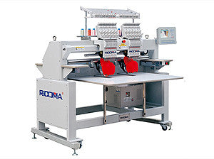 Ricoma RCM-1202C-H-W 12-Needle 2-Head Stretch Field Tubular Embroidery Machine