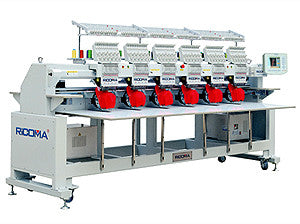 Ricoma RCM-1206C-H-W 12-Needle 6-Head Stretch Field Tubular Embroidery Machine
