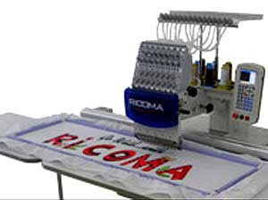 Ricoma RCM-0601PT-EW4814 6 Needle Single Head Large Field Embroidery Machine