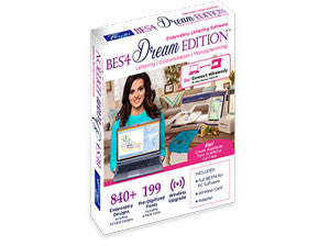 Brother BES® 4 Dream Edition Embroidery, Lettering and Monogramming PC Software