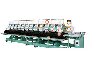 Tajima TEMX-C1512-360 15-Needle 12-Head Cylinder Embroidery Machine
