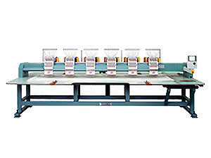 Tajima TFMX-II-906-500 9-Needle 6-Head Flat-Bed Wide-Field Compact Chassis Embroidery Machine