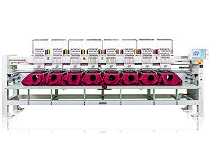 Tajima TMAR-K1508C-500 15-Needle 8-Head Cylinder Embroidery Machine