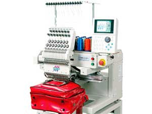 Tajima TUMX-C 601 6-Needle Single Head Cylinder Embroidery Machine