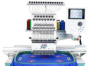 Tajima TWMX-C 1201 12-Needle Single Head Large Field Embroidery Machine