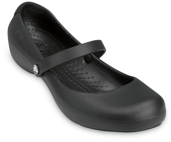 CROCS WORK ALICE WOMENS BLACK CLOG