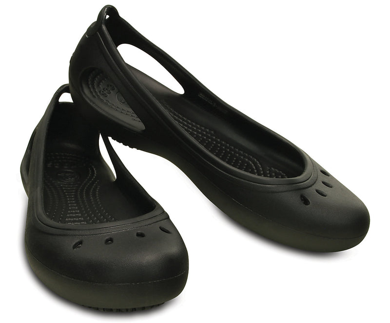 CROCS WORK KADEE WOMENS FLAT BLACK CLOG