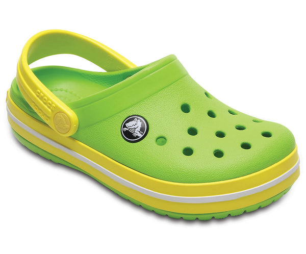 CROCS CROCBAND KIDS VOLT GREEN/LEMON CLOG