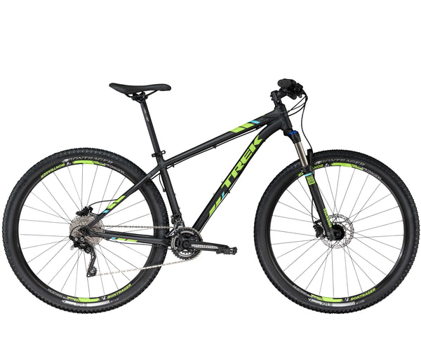 TREK X-CALIBER 9 29ER BLACK I GREEN BICYCLE