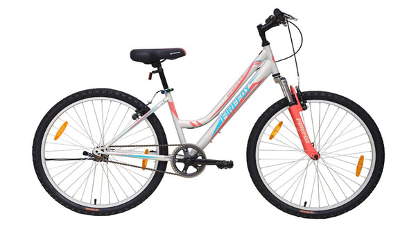 FIREFOX BREEZE 26 SILVER I ORANGE BICYCLE