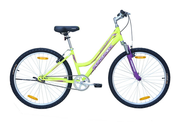 FIREFOX BREEZE 26 GREEN I PURPLE BICYCLE