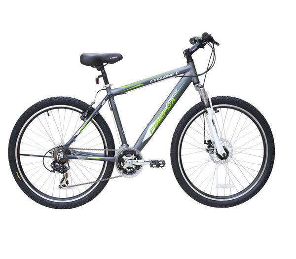 FIREFOX CYCLONE DISC 26 MATT GREY/GREEN BICYCLE