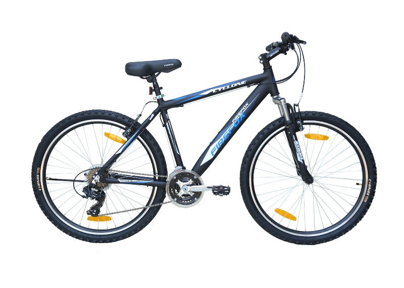 FIREFOX CYCLONE 26 MATT BLACK/BLUE BICYCLE