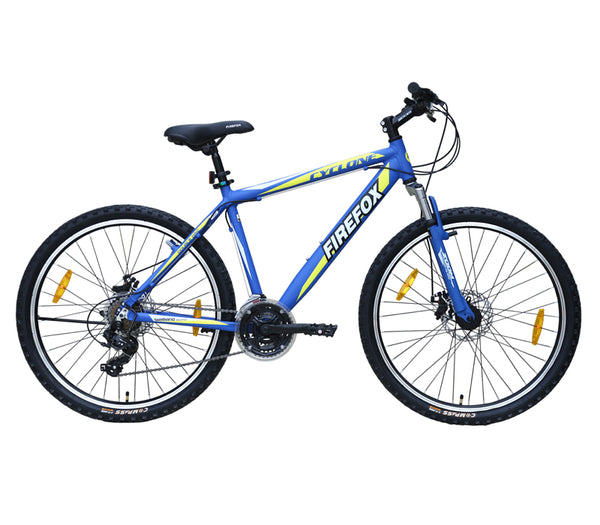 FIREFOX CYCLONE (DUAL DISC) 26 BLUE BICYCLE