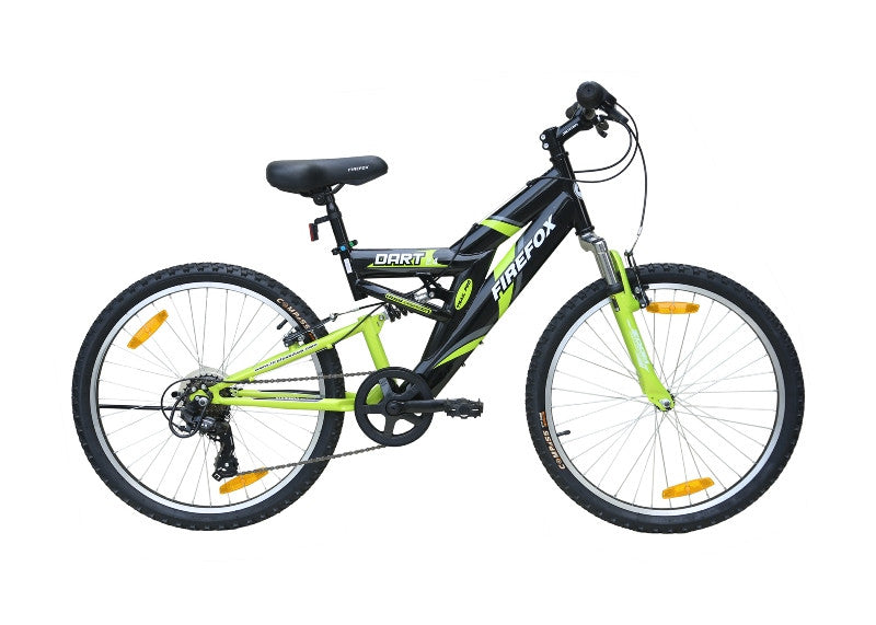 FIREFOX DART 2.4 6 SPD BLACK/GREEN (9-12 YEARS) KID'S BICYCLE