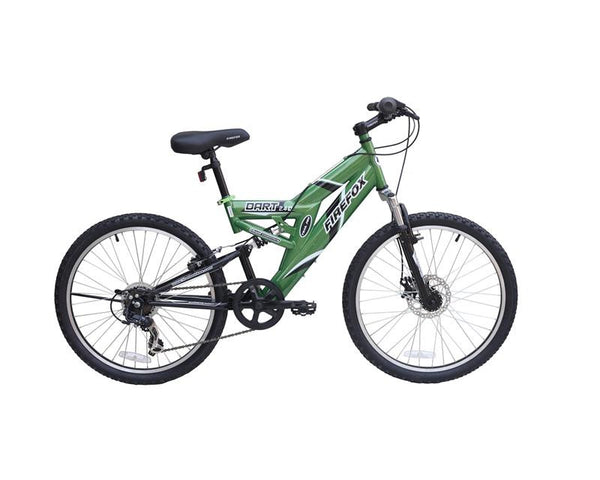 FIREFOX DART 2.4 DISC 6 SPD GREEN/BLACK (9-12 YEARS) KID'S BICYCLE
