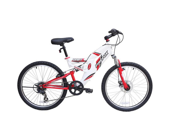 FIREFOX DART 2.4 DISC 6 SPEED WHITE/RED (9-12 YEARS) KID'S BICYCLE