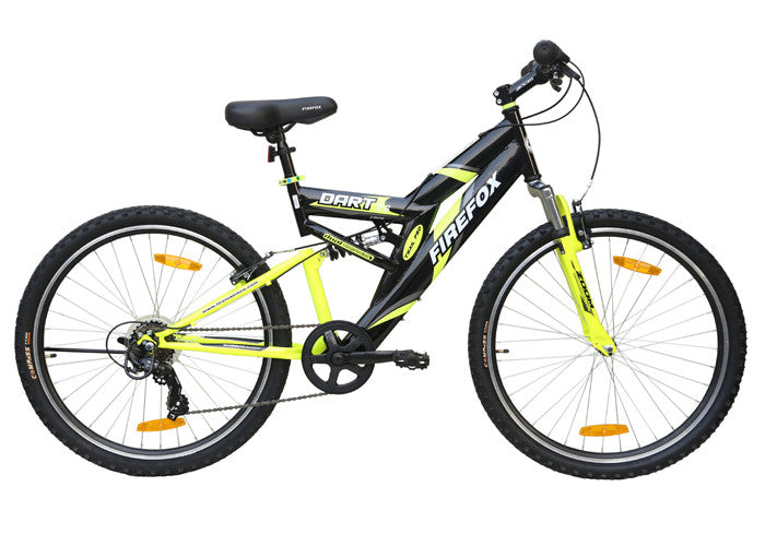 FIREFOX DART 2.6 6 SPEED BLACK/YELLOW BICYCLE