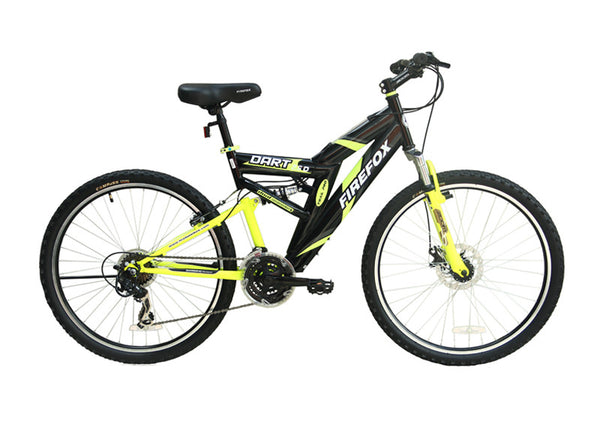 FIREFOX DART 2.6 DISC 21 SPEED BLACK/YELLOW BICYCLE
