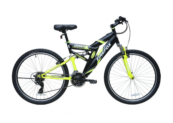 FIREFOX DART 2.6 21 SPD BLACK/YELLOW BICYCLE