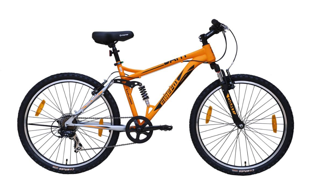 FIREFOX DART PRO 26 7 SPEED V MATT ORANGE BLACK BICYCLE