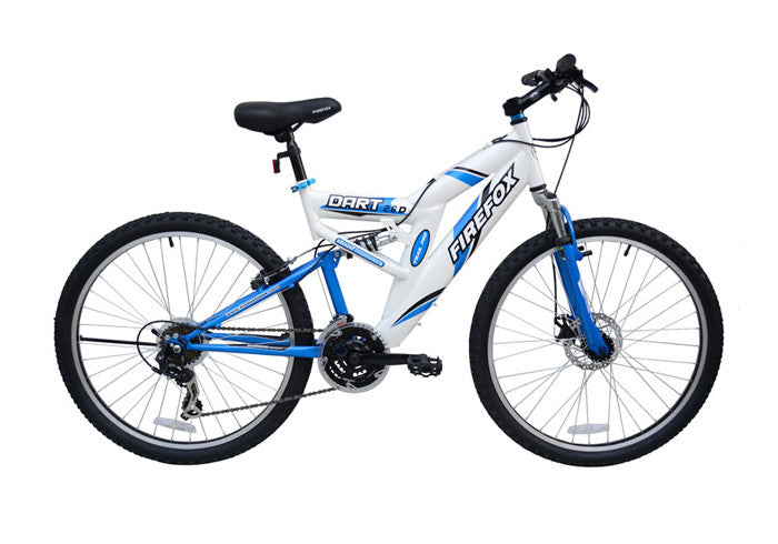 FIREFOX DART 2.6 DISC 21 SPEED WHITE/BLUE BICYCLE