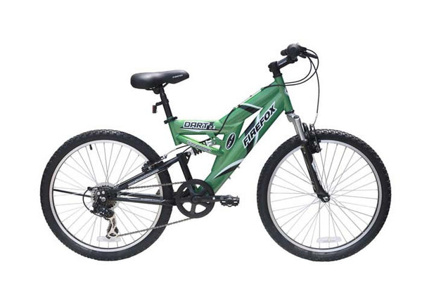 FIREFOX DART 2.4 6 SPEED GREEN/BLACK (9-12 YEARS) KID'S BICYCLE