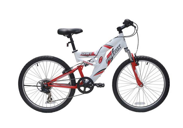 FIREFOX DART 2.4 6 SPEED WHITE/RED (9-12 YEARS) KID'S BICYCLE