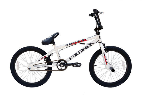 FIREFOX BMX SKULL MATT WHITE BICYCLE