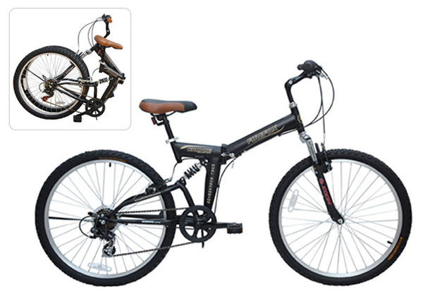 FIREFOX KOMPAC ST 6 SPEED (FOLDING) BLACK BICYCLE