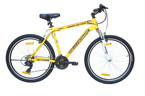FIREFOX SWISS MILITARY PATROL 21S YELLOW BICYCLE