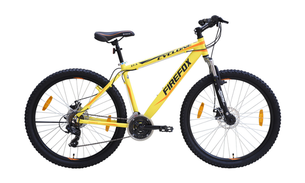 FIREFOX CYCLONE (DUAL DISC) 27.5 MATT YELLOW BLACK BICYCLE
