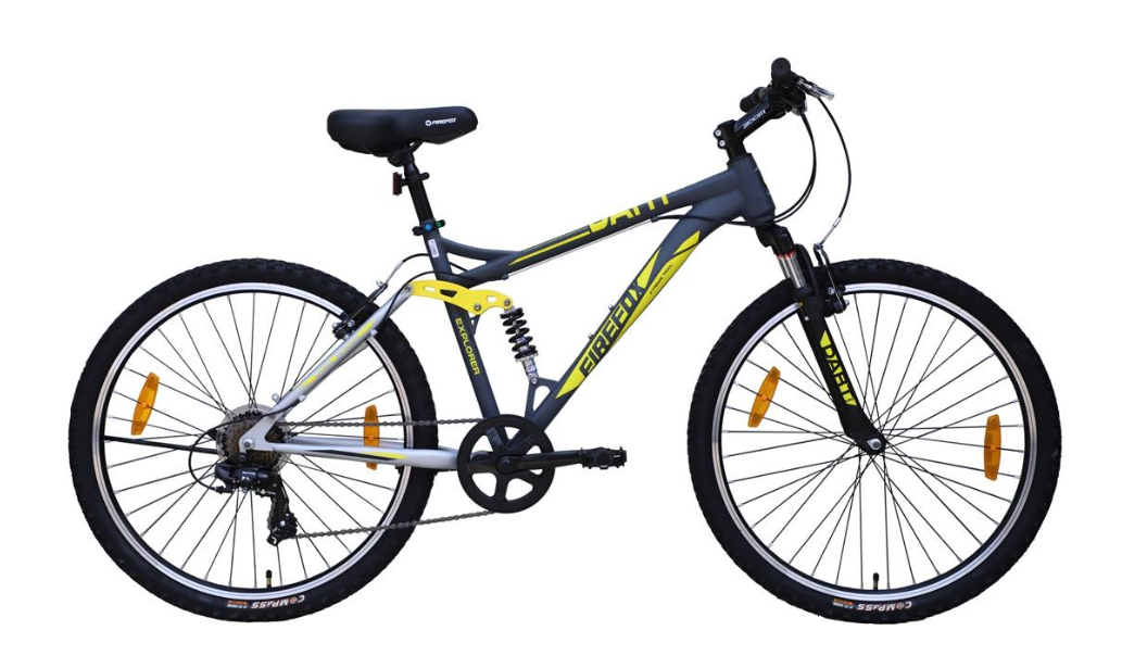 FIREFOX DART PRO 26 7 SPEED V MATT GREY BLACK BICYCLE