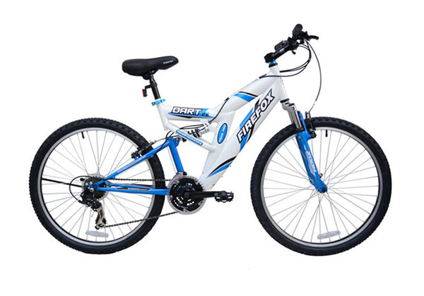 FIREFOX DART 2.6 21 SPD WHITE/BLUE BICYCLE