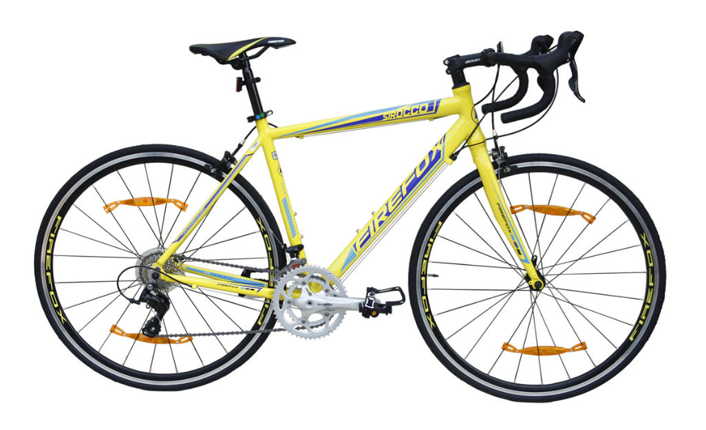 FIREFOX SIROCCO YELLOW ROAD BICYCLE