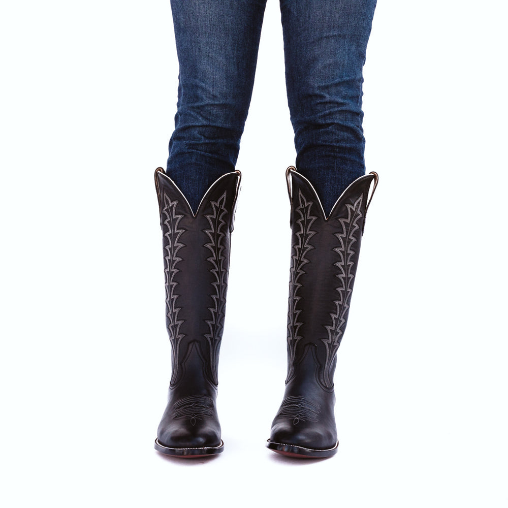 CITY Boots Soncy Women's Black Cowboy Boots