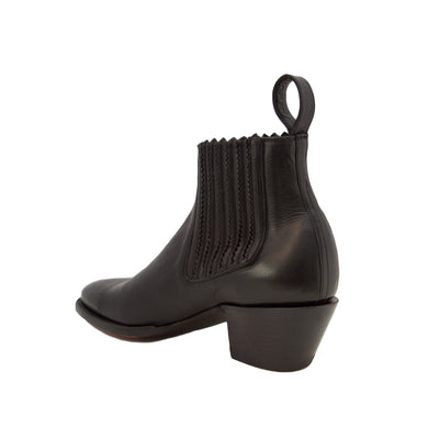 """CITY Slicker"" Slip-on bootie - Black Leather"
