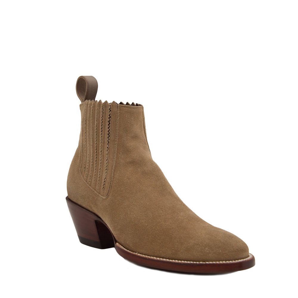 CITY Slicker Bone Suede Slip-on Booties
