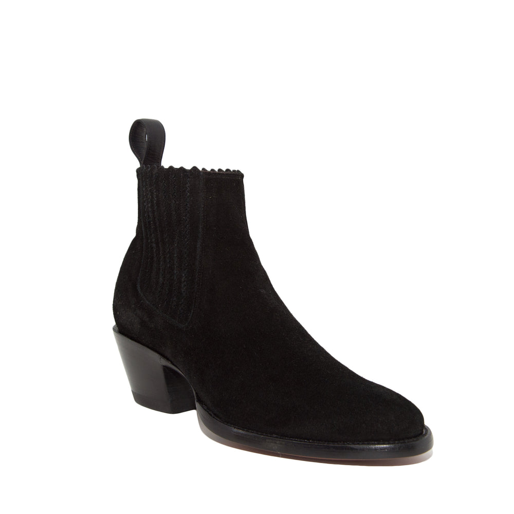 CITY Slicker Black Suede Slip-on Booties