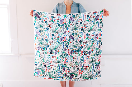 Texas Wildflower | Dorothy Shain for CITY Boots Silk Scarf **PREORDER**