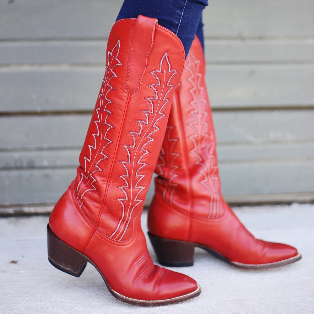 CITY Boots Georgia Women's Red Cowboy Boots