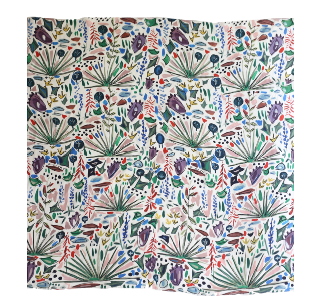 Texas Wildflower | Dorothy Shain for CITY Boots Silk Scarf