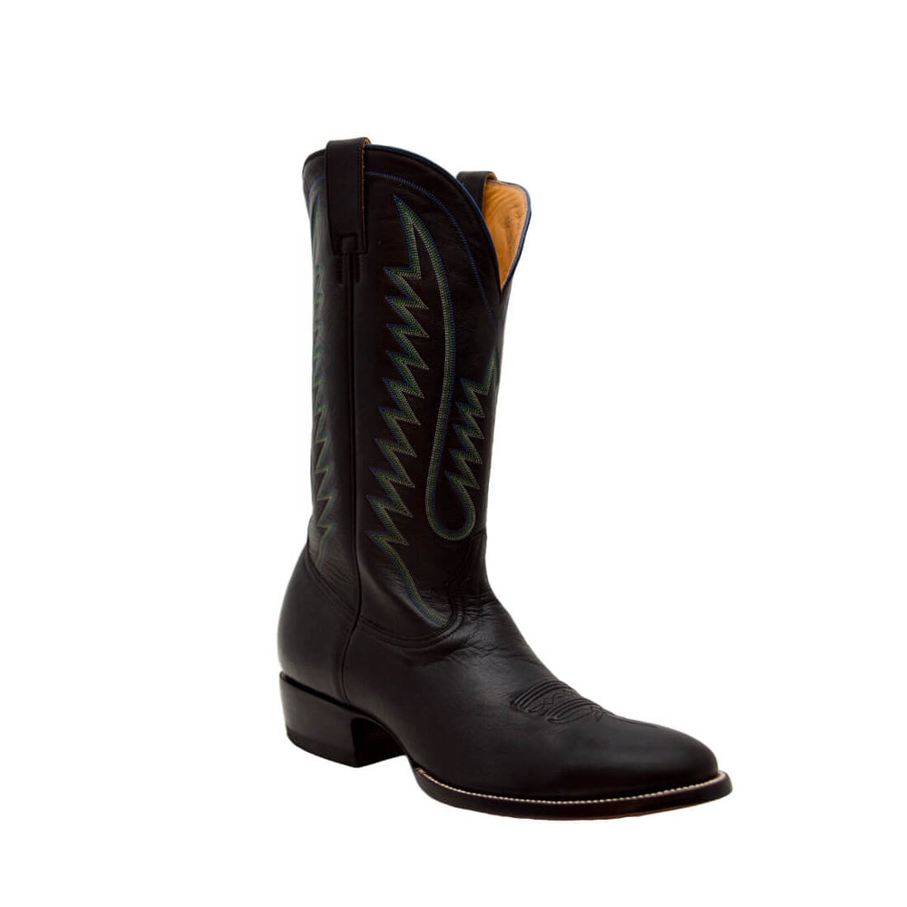 CITY Boots The Buchanan Men's Black Leather Cowboy Boots - CITY Boots